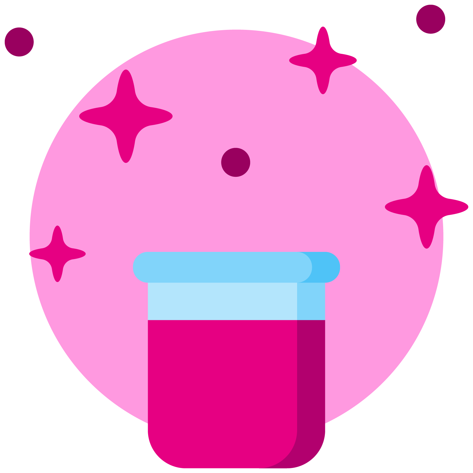 Icon of a sparkly jar of glitter
